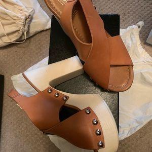 Shoes - Real leather wedge platform heels